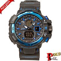 Спортивные часы Casio G-Shock GWA-1100 Black-Blue