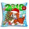 Новогодняя подушка 2018