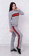 Вязанный брендовый костюм серый, фото 1