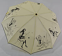 "Женский зонт полуавтомат на 9 спиц из углепластика от фирмы ""SilverRain"""