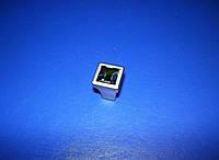 Кнопка со стразами Swarovski ст. серебро ITALY