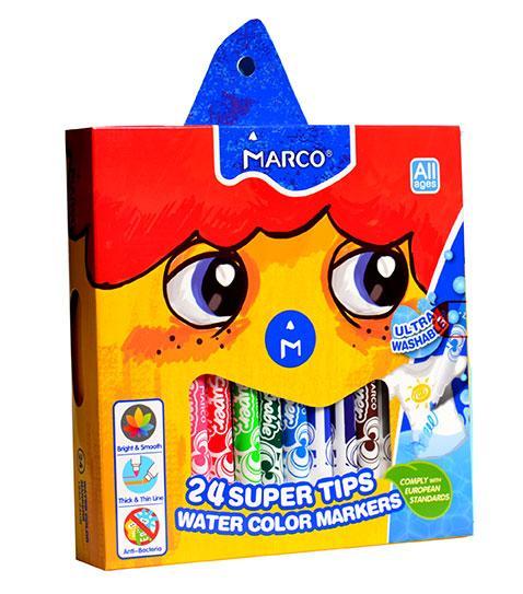 Фломастери змиваються Marco Super Washable,24 кольори 1630-24