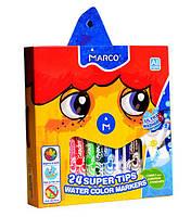 Фломастери змиваються Marco Super Washable,24 кольори 1630-24, фото 1