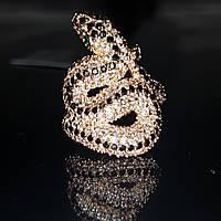 Кольцо Змея золото 585 пробы 17 размер вес 7.07 грамм