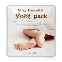 Педикюрные носочки-маска для шелковых пяточек Calmia Silky Essential Foot Pack, оригинал