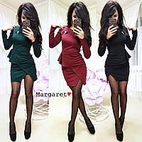 Женское красивое облегающее платье с брошью (3 цвета), фото 1