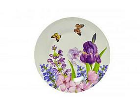"""Тарелка мелкая d=230 мм Пурпурные цветы в упаковке 6 шт """"Keramia"""""""
