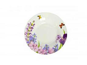 "Тарелка глубокая d=200 мм Пурпурные цветы упаковка 6 шт ""Interos"""