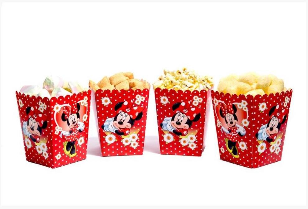 """Коробочка для попкорну та солодощів """"Мінні Маус"""" 5 шт."""