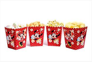"""Коробочка для попкорна и сладостей """"Минни Маус"""" 5 шт."""