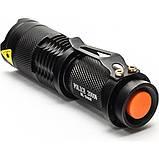 Фонарь компактный Police / Bailong 8468/8455- XPE, акумулятор 14500/АА, zoom, фото 3