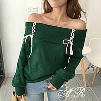 Женская стильная кофта с открытыми плечами (4 цвета), фото 1