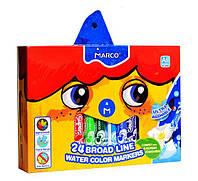 Фломастеры смываемые Marco Super Washable Jumbo,24 цвета 1632-24
