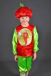 Детский карнавальный костюм ПЕРЕЦ ЧИЛИ на 3,4,5,6 лет маскарадный костюм ПЕРЦА. Костюмы овощей. 318