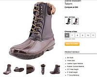 100% Оригинал Ботинки кожаные прорезиненные на шнурках премиум-класса Steve Madden. США  24.5, 38