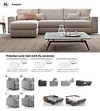 Итальянский раскладной диван FREEDOM с ортопедическим матрасом 160 см фабрика Ditre Italia, фото 5