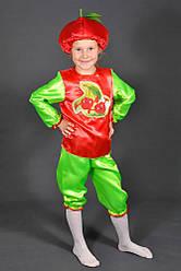 Детский карнавальный костюм ВИШНЯ, ВИШЕНКА на 3,4,5,6,7,8 лет маскарадный костюм ВИШНИ. Костюмы фруктов. 318