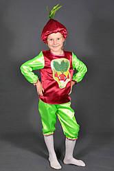 Детский карнавальный костюм РЕДИС, РЕДИСКА на 3,4.5,6,7,8 лет маскарадный костюм РЕДЬКА. 318