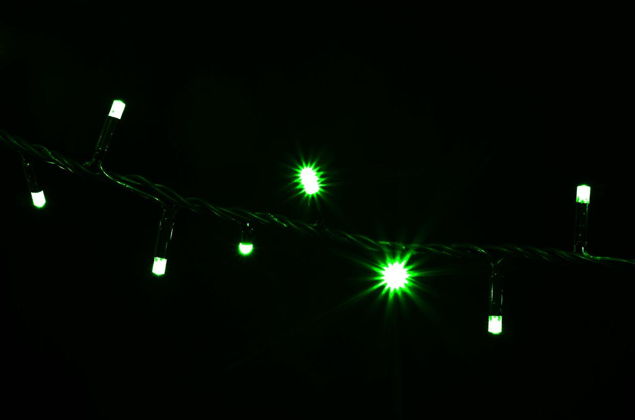 Гирлянда внешняя DELUX STRING 200LED 10m зелен/черн IP44 EN