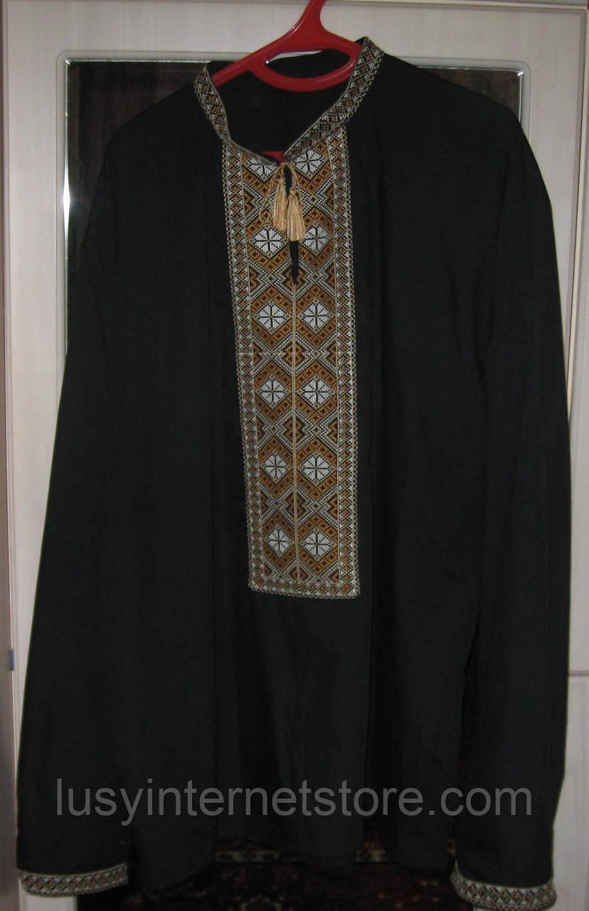 Сорочка мужская цвет черный 061273a5b03a5