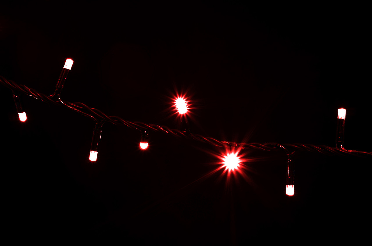 Гірлянда зовнішня DELUX STRING 200LED 10m червоний/чорний IP44 EN