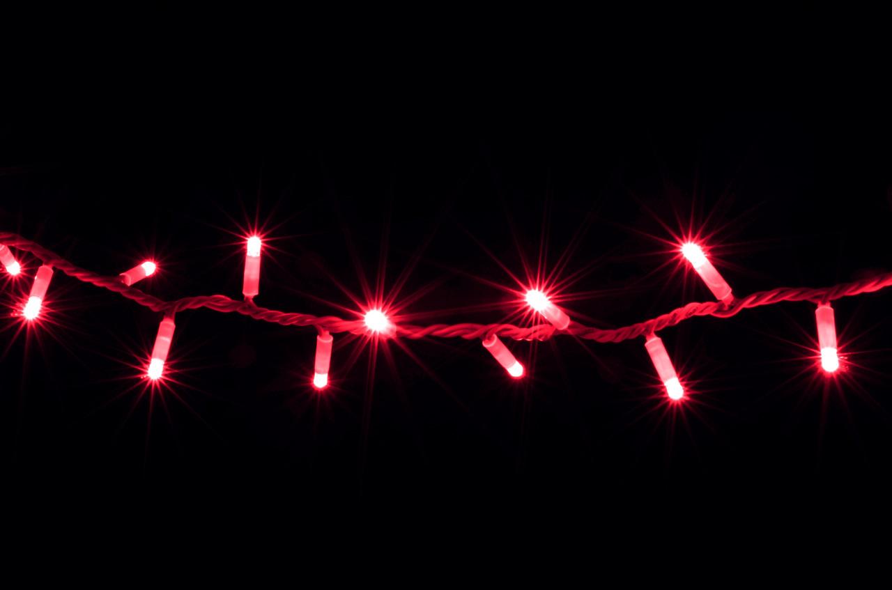 Гірлянда зовнішня DELUX STRING 200LED 10m червоний/білий IP44 EN