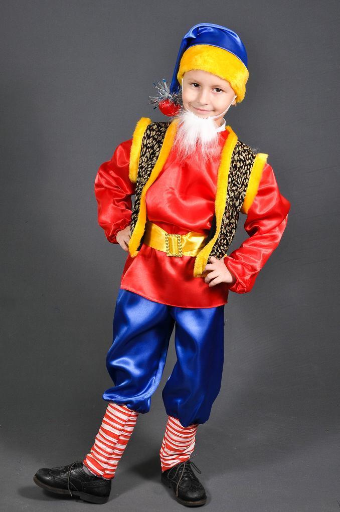 Детский карнавальный костюм ГНОМ ГНОМИК на мальчика 3,4,5 лет новогодний костюм ГНОМА ГНОМИКА детский