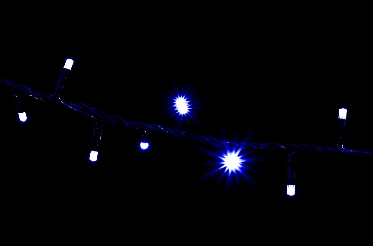 Гирлянда внешняя DELUX STRING 200LED 10m синий/черн IP44 EN
