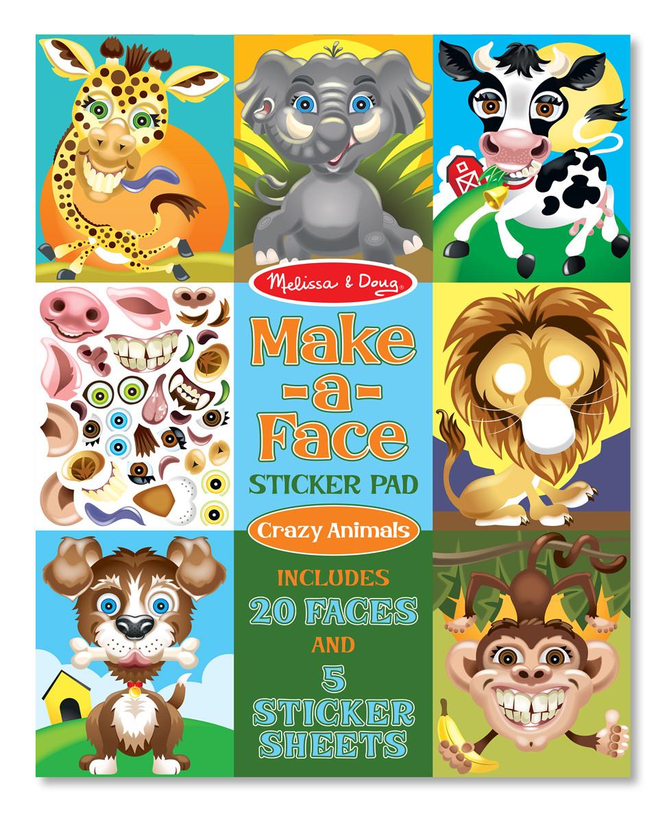 Набор наклеек Забавные животные Melissa&Doug (MD18605)