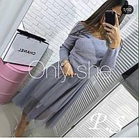 Женское Платье+Свитер
