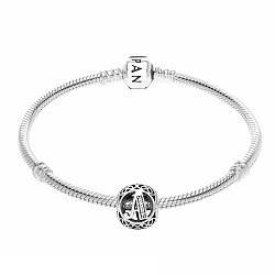 Шарм серебряный буква А в стиле Pandora