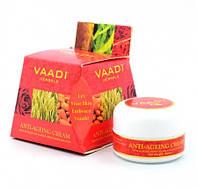 Омолаживающий крем Vaadi с экстрактами миндаля, зародышей пшеницы и розы