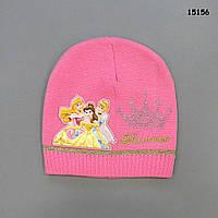 Шапка Princess для девочки. 46-52 см, фото 1