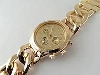 Часы Michael Kors плетеный браслет в золотистом цвете, фото 1
