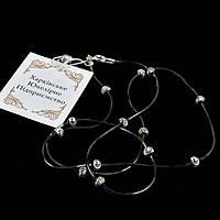 Серебряная черненая цепочка/ожерелье 50 см, фото 1