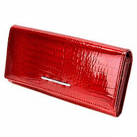 Кошелек красный лаковый Balisa B826-3 кожаный женский с монетницей на защелке внутри