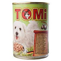TOMi lamb ЯГНЕНОК консервы для собак, влажный корм , 1.2 кг.