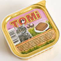 TOMi МЯСО ПТИЦА (veal, poultry) консерва корм для кошек, паштет , 0.1 кг.