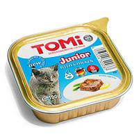 TOMi junior ТОМИ СУПЕРПРЕМИУМ ДЛЯ КОТЯТ консервы с курицей, паштет , 0.1 кг.