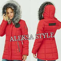 Женская  шикарная зимняя куртка с внутренним поясом, в расцветках