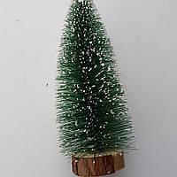 Ёлочка новогоднее оформление 16 см со снегом