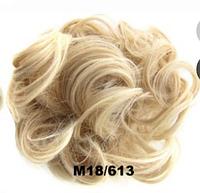 Женская модная резинка из волос, пушистая гулька из искусственных волос, цвет №М18/613