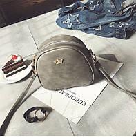 Женская сумка через плечо Crown корона серая, Жіноча сумочка, Клатч, фото 1