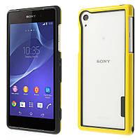 Чехол бампер TPU для Sony Xperia Z2 D6502 желтый