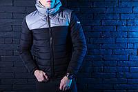 Мужская зимняя куртка Pobedov Rise (Победов) серо-черный