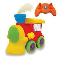 Развивающая игрушка на ИК управлении ПАРОВОЗИК ЧУХ свет, звук, водяной пар Kiddieland preschool (047837)