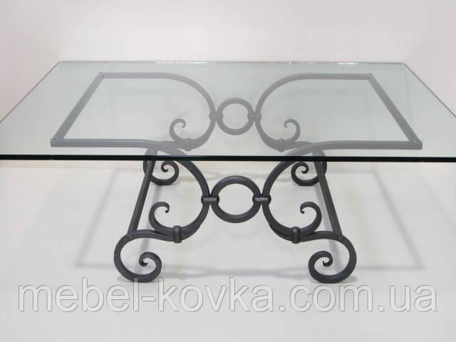 Кованый квадратный  стол со столешницей 9