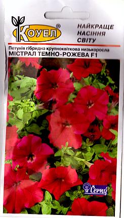 Семена петунии Мистрал темно-розовая Ф1 10шт Коуел, фото 2