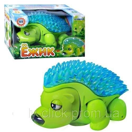 Танцующий Ежик M 0382, игрушка для малышей