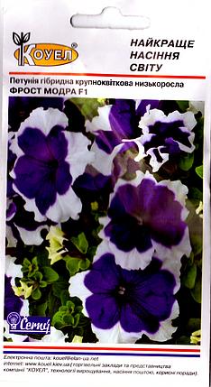 Семена петунии Фрост Модра Ф1 10шт Коуел, фото 2